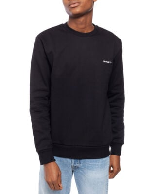 Carhartt WIP Script Embroidery Sweat Black/White