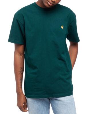 Carhartt WIP S/S Chase T-Shirt Dark Fir/Gold