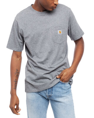 Carhartt WIP S/S Pocket T-Shirt Dark Grey Heather
