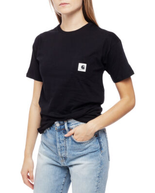 Carhartt WIP W' S/S Carrie Pocket T-Shirt Black/Grey Heather