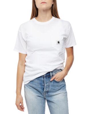 Carhartt WIP W' S/S Carrie Pocket T-Shirt White/Grey Heather