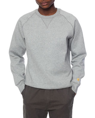 Carhartt WIP Chase Sweat Grey Heather / Gold