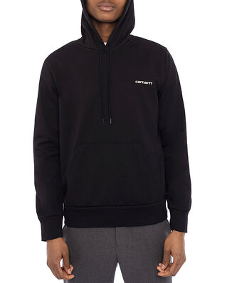 Carhartt WIP Hooded Script Embroidery Sweater Black / White