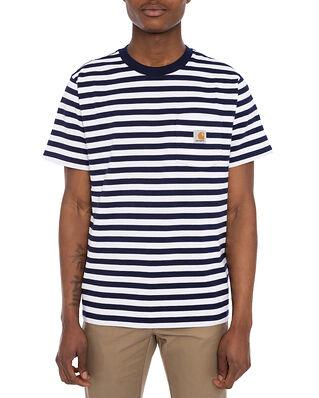 Carhartt WIP S/S Scotty Pocket T-Shirt Dark Navy/White