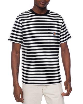 Carhartt WIP S/S Scotty Pocket T-Shirt Scotty Stripe, Black/Wax