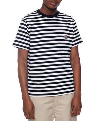 Carhartt WIP S/S Scotty Pocket T-Shirt Scotty Stripe, Dark Navy/White