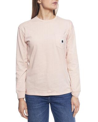 Carhartt WIP W' L/S Pocket T-Shirt Powdery / Ash Heather