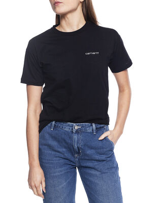 Carhartt WIP W' S/S Script Embroidery T-S Black / White