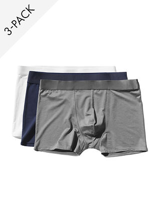 CDLP 3-Pack Boxer Brief White/Navy Blue/Sky Grey