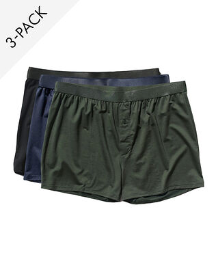 CDLP 3-Pack Boxer Shorts Black/Navy Blue/Army Green