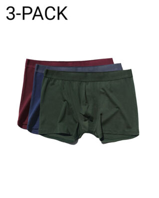 CDLP 3-Pack Boxer Brief Army Green/Navy Blue/Burgundy