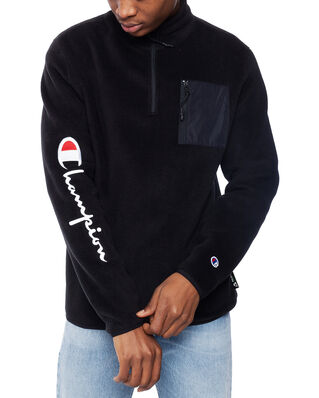 Champion Reverse Weave Velour Patch Pocket Half Zip-Up Sweatshirt Nbk/Nbk