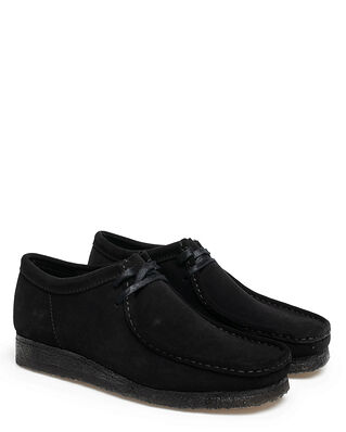 Clarks Wallabee Black Suede