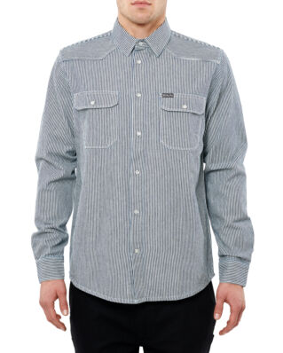 DePalma Workwear County fair stripe shirt