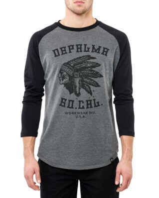 DePalma Workwear Nothing man dark grey/black t-shirt