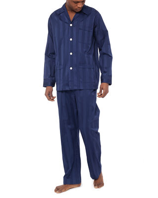 Derek Rose Classic Fit Pyjama Set Lingfield Navy