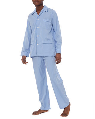 Derek Rose Piped Classic fit Pyjama Set Gingham Blue