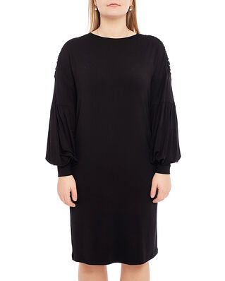 Diana Orving Draped Sleeve Dress Black