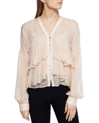 Diana Orving Frill Blouse Beige