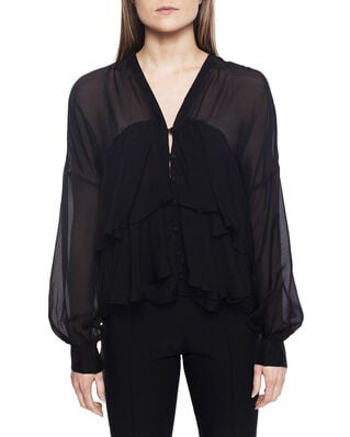 Diana Orving Frill Blouse Black