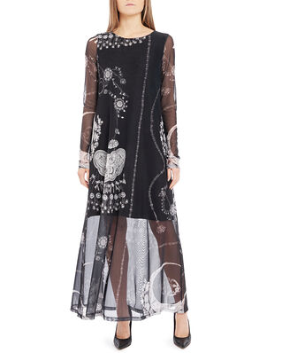 Diana Orving Long Layered Dress Blue Print