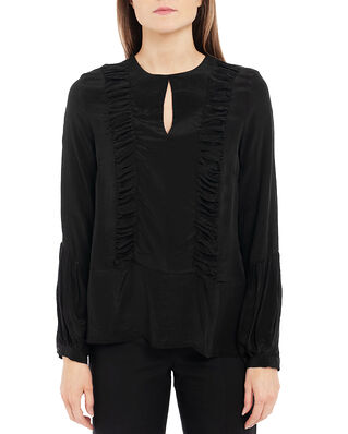 Diana Orving Ruffle Blouse Black