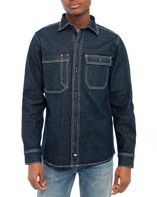 Dickies Paincourtville Denim Shirt  Dark Blue