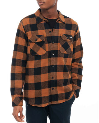 Dickies Sacramento Relaxed Long Sleeve Shirt Brown Duck