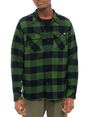 Dickies Sacramento Relaxed Long Sleeve Shirt Pine Green