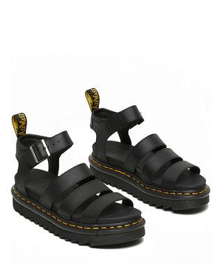 Dr Martens Blair Chunky 3 Strap Sandal Black Hydro
