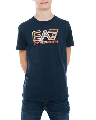 EA7 Junior T-Shirt Navy Blue BJ7CZ-6HBT53
