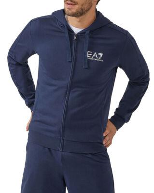EA7 Cotton Zip Hoodie Navy Blue