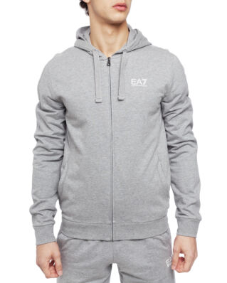 EA7 Felpa Zip Hood 3GPM59-PJ05Z Medium Grey Mel