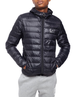 EA7 Train Core ID M Down Light Jacket Hoodie Black