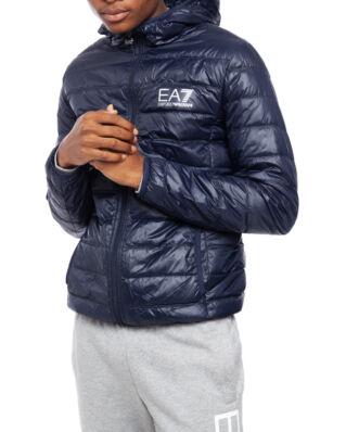 EA7 Train core ID M down light jacket hoodie night blue PN29Z-8NPB02