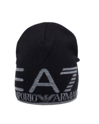 EA7 Man's Beanie 9A301-275893 Black/Grey