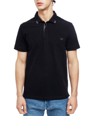 Emporio Armani Mens Knit Polo S/Sle 211804-9P461 Black