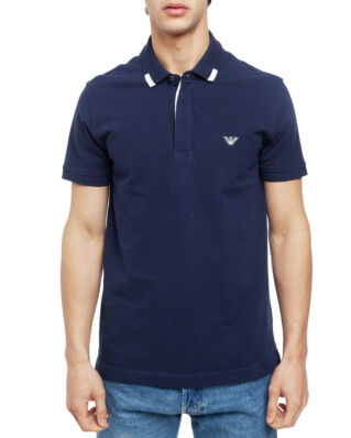 Emporio Armani Mens Knit Polo S/Sle 211804-9P461 Blue Navy