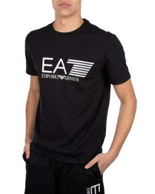 EA7 Printed Cotton T-Shirt Black