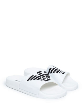 Emporio Armani Slipper Pu+Pvc X4PS01-XL828 White
