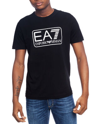 EA7 Train logo series M tee 1 pima co black PJNQZ-8NPT10