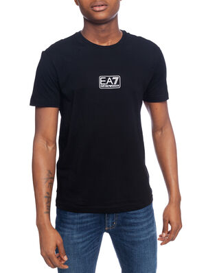 EA7 Train logo series M tee 2 pima co black PJNQZ-8NPT11