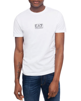 EA7 Train logo series M tee 2 pima co white PJNQZ-8NPT11