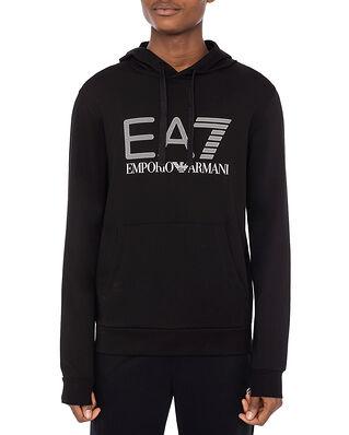 EA7 Jersey Hoodie Sweatshirt Black