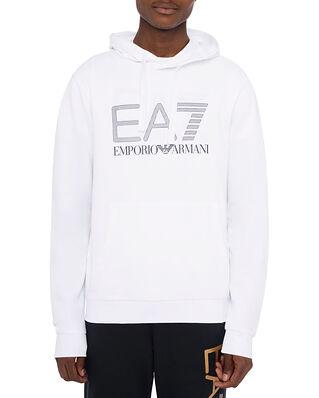 EA7 Jersey Hoodie Sweatshirt White