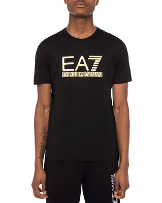 EA7 Jersey T-Shirt Large Logo Black