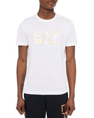 EA7 Jersey T-Shirt Large Logo White