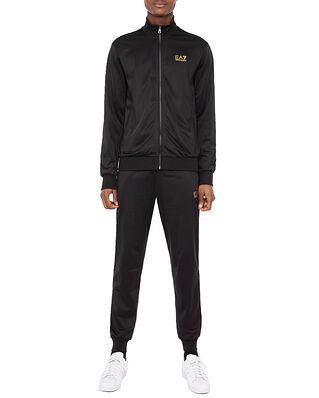 EA7 Jersey Tracksuit Black/Gold
