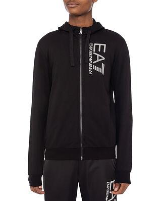 EA7 Jersey Zip Sweatshirt Black