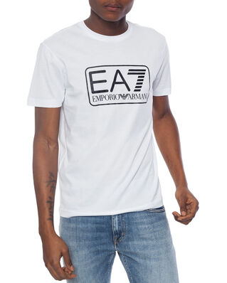 EA7 Train logo series M tee 1 pima co white PJNQZ-8NPT10